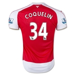 Arsenal 15/16 COQUELIN Home Soccer Jersey