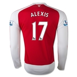 Arsenal 15/16 ALEXIS LS Home Soccer Jersey