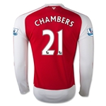 Arsenal 15/16 CHAMBERS LS Home Soccer Jersey