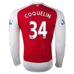 Arsenal 15/16 COQUELIN LS Home Soccer Jersey