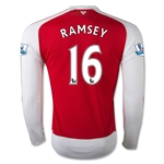 Arsenal 15/16 RAMSEY LS Home Soccer Jersey