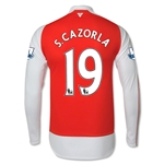 Arsenal 15/16 S. CAZORLA LS Home Soccer Jersey