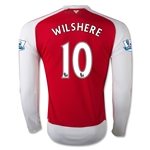 Arsenal 15/16 WILSHERE LS Home Soccer Jersey
