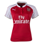 Arsenal 15/16 Women's Home Soccer Jersey