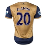 Arsenal 15/16 FLAMINI Away Soccer Jersey
