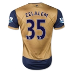 Arsenal 15/16 ZELALEM Away Soccer Jersey