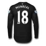Arsenal 15/16 MONREAL LS Cup Soccer Jersey