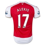 Arsenal 15/16 ALEXIS Youth Home Soccer Jersey