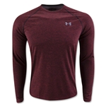 Under Armour Tech Patterned Long Sleeve T-Shirt (Maroon)
