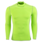 Under Armour ColdGear Armour Compression Mock Top (Neon Green)