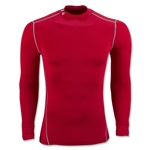 Under Armour ColdGear Armour Compression Mock Top (Red)