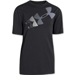 Under Armour Boys Rising Logo Glow-in-the-Dark Tech T-Shirt (Blk/Grey)