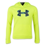 Under Armour Boys Storm Armour Fleece Big Logo Hoody (Neon Green)