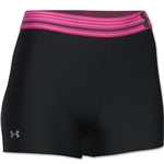 Under Armour HeatGear Armour Women's Compression 3 Shorty (Black/Pink)