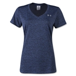 Under Armour Tech Dope Dye V-Neck Women's T-Shirt (Purple)