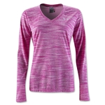 Under Armour Tech Space Dye Long Sleeve T-Shirt (Pink)