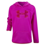 Under Armour Girls Armour Fleece Big Logo Hoody (Pink)