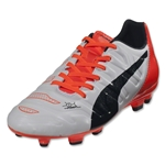 Puma evoPower 3.2 FG Junior (White/Total Eclipse/Lava Blast)