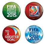 FIFA Women's World Cup Canada 2015(TM) 4 Pack Buttons