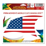 FIFA Women's World Cup Canada 2015(TM) USA 5x6 Decal