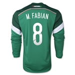 Mexico 2014 Marco Fabian LS Home Soccer Jersey
