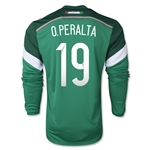 Mexico 2015 Oribe Peralta LS Home Soccer Jersey