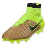 Nike Magista Obra Leather FG (Canvas/Black/Volt)