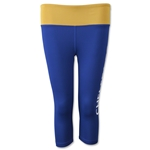 Chelsea Women's Capri Leggings with Reversible Band (Royal)
