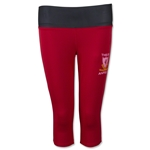 Liverpool Women's Capri Leggings with Reversible Band