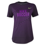 Nike Women's Dri Blend Graphic T-Shirt (Purple)
