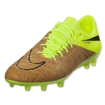 Nike Hypervenom Phinish Leather FG (Canvas/Black/Volt)