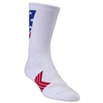 Under Armour Undeniable Crew Patriot Sock (White)