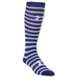 Under Armour Women's Wordmark II Over the Calf Sock (Blue)