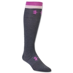 Under Armour Women's Wordmark II Over the Calf Sock (Pink)