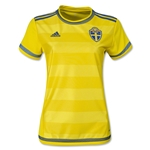 Sweden 2015 Women's Home Soccer Jersey