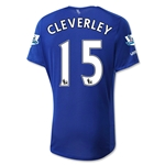 Everton 15/16 CLEVERLEY Home Soccer Jersey