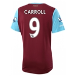 West Ham 15/16 CARROLL Home Soccer Jersey
