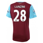 West Ham 15/16 LANZINI Home Soccer Jersey