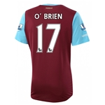 West Ham 15/16 O BRIEN Home Soccer Jersey