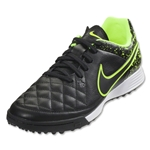 Nike Tiempo Genio Leather TF Junior (Black/Black Volt)