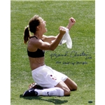 Steiner Sports Brandi Chastain Signed PK Celebration Close-Up 16x20 Vertical Photo