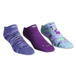 Nike 3 pack Women's Dri-FIT Graphic Sock (Purple)