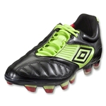 Umbro Geometra Pro Soccer Shoes (Black/White/Sharp Green/True Red)