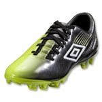 Umbro GT2 Pro FG Soccer Shoes (Black/White/Acid Green)