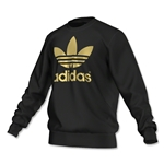 adidas Originals Mirror Trefoil Logo Crew (Black/Gold)