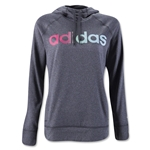 adidas Ultimate Women's Fleece Logo Pullover Hoody (Dk Gray)