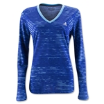 adidas Ultimate LS Illuminated Screen Print Women's Shirt (Blue)
