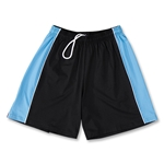 Yale Women's 4-Way Stretch Lacrosse Short (Black/Sky)