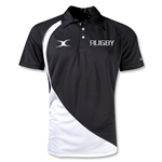 Gilbert Pro V2 Rugby Logo Polo (Black/White)