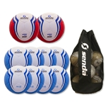 Senda Valor Ball 10 Pack (Light Blue/Red)